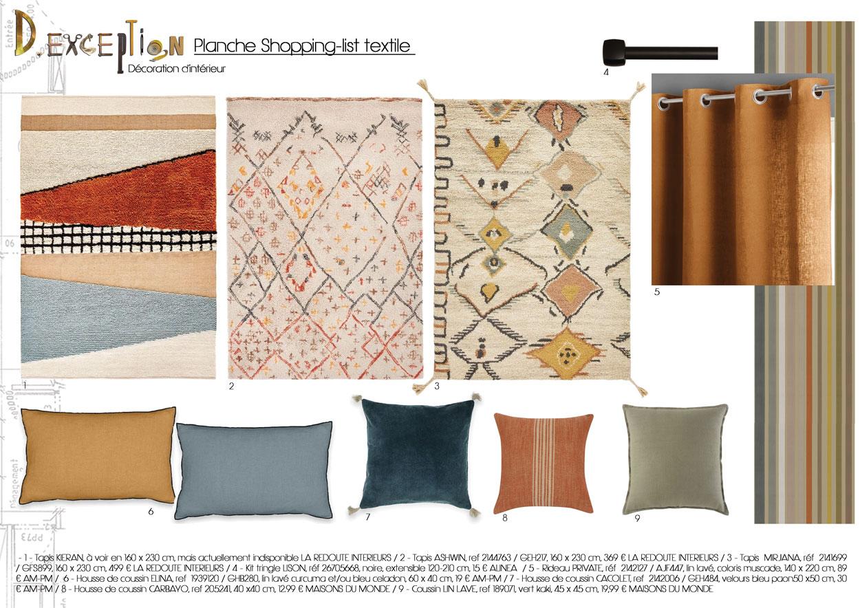 planche-shopping-list-textiles-bureau-sous-combles-saint-germain-du-plain-saone-et-loire