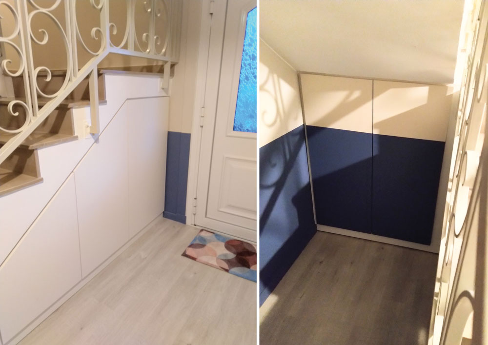 conception-meuble-rangement-sur-mesure-sous-escalier-maison-saint-genis-laval-rhone