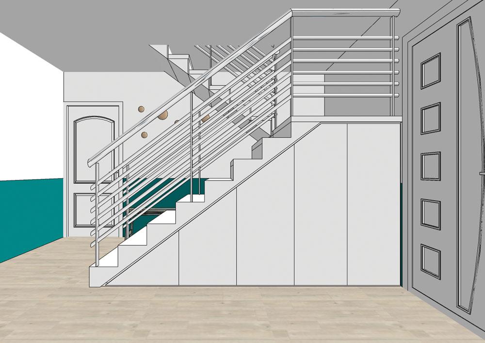 conception-sur-mesure-meuble-rangement-sous-escalier-maison-saint-genis-laval