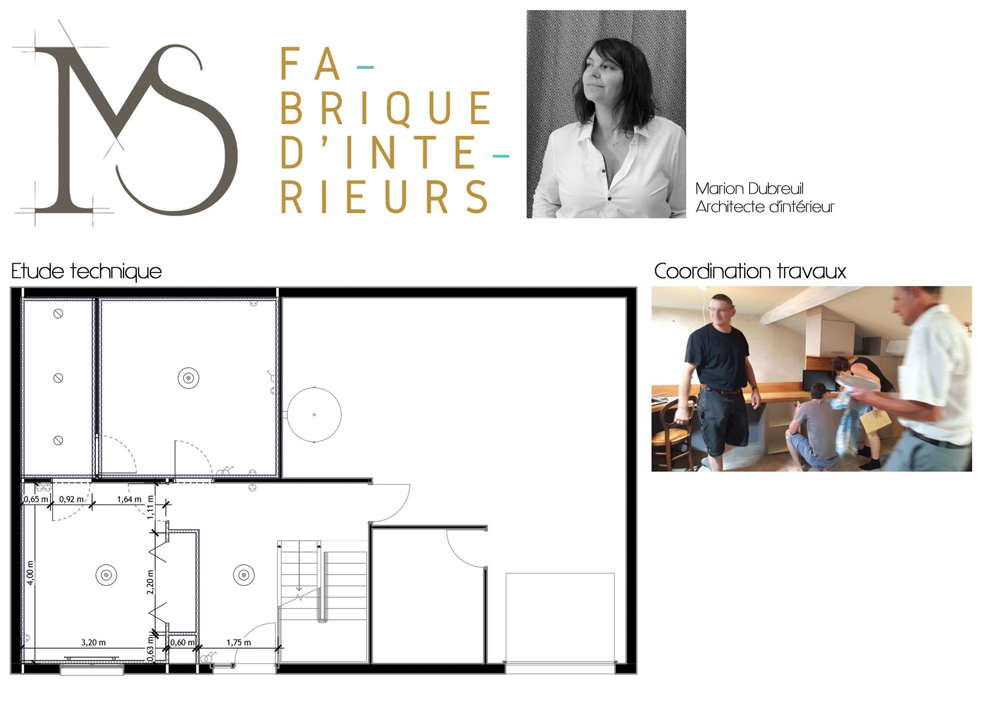 MS fabrique d'intérieurs architecte intérieur