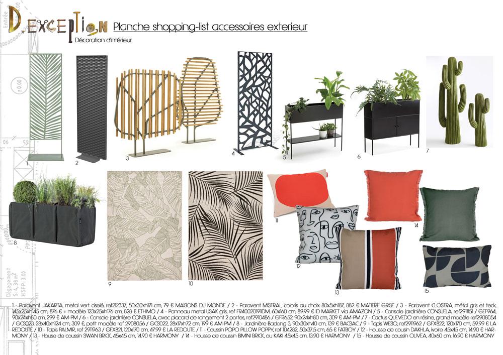 planche-shopping-list-accessoires-exterieur-terrasse-appartement-lyon-5eme