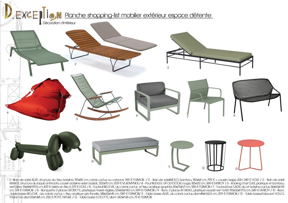 planche-shopping-list-mobilier-exterieur-espace-detente-terrasse-appartement-lyon-5eme